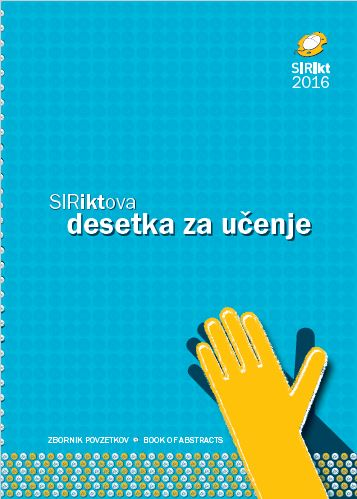 Zbornik povzetkov prispevkov SIRikt 2016
